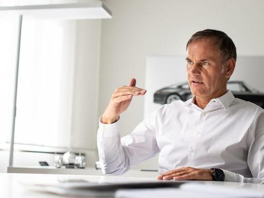 Porsche CEO Oliver Blume signalling Exploring IPO