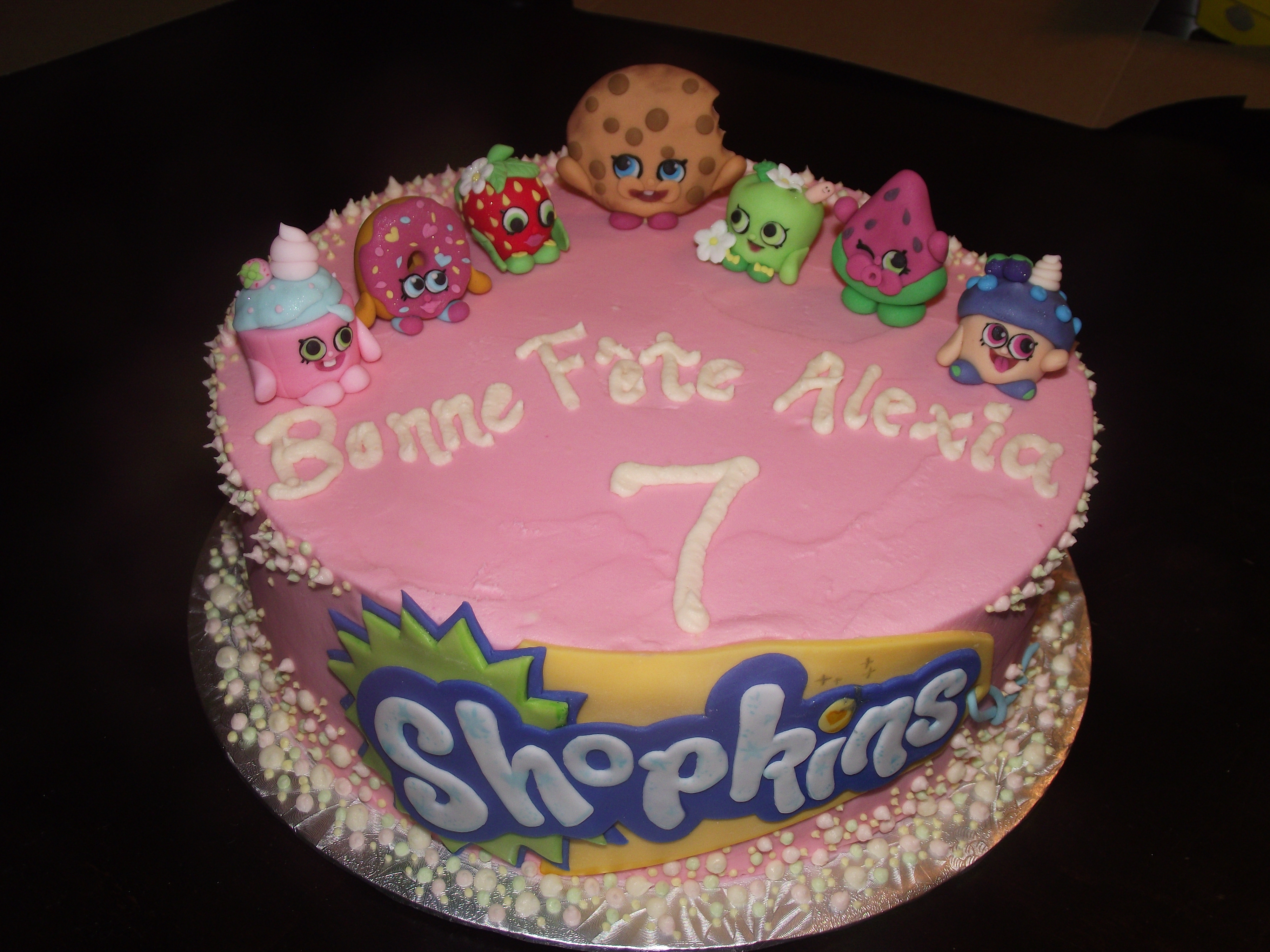 Homemade Shopkins Cake