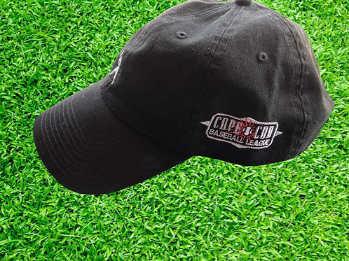 Black Cape Cod Baseball League Adjustable Hat