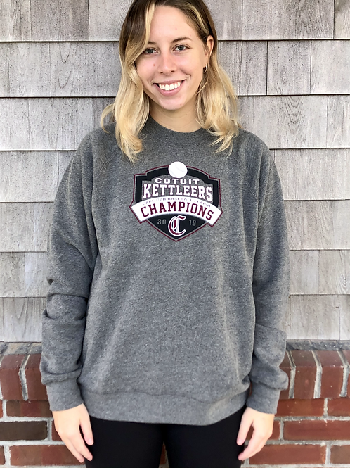 2019 Unisex Championship Grey Crew Sweatshirt