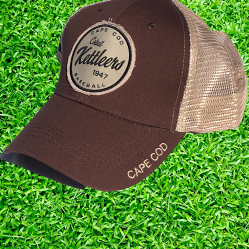 Brown/Mesh Adjustable Trucker Hat