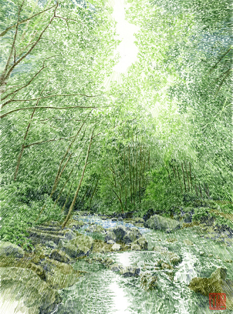 オガワヒロシ|色鉛筆画の繊細な表現による美しい風景画。