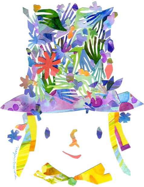 密田 恵|水彩コラージュで描く美しい色彩。カレンダーでも好評。