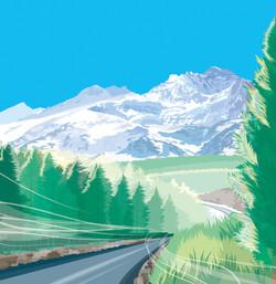 宍戸竜二|ベクターで描くポップな世界。リアルタイプの風景も制作する。