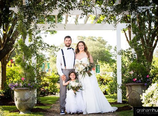 Sharron & Cam's Wedding Day in the Gardens