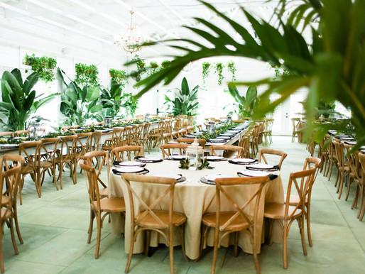 Morgan & Briton's Wedding Day in our Tropical Event Sun Room & Gardens