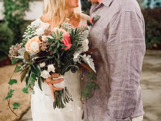 Amy & David's Wedding Day in the Garden