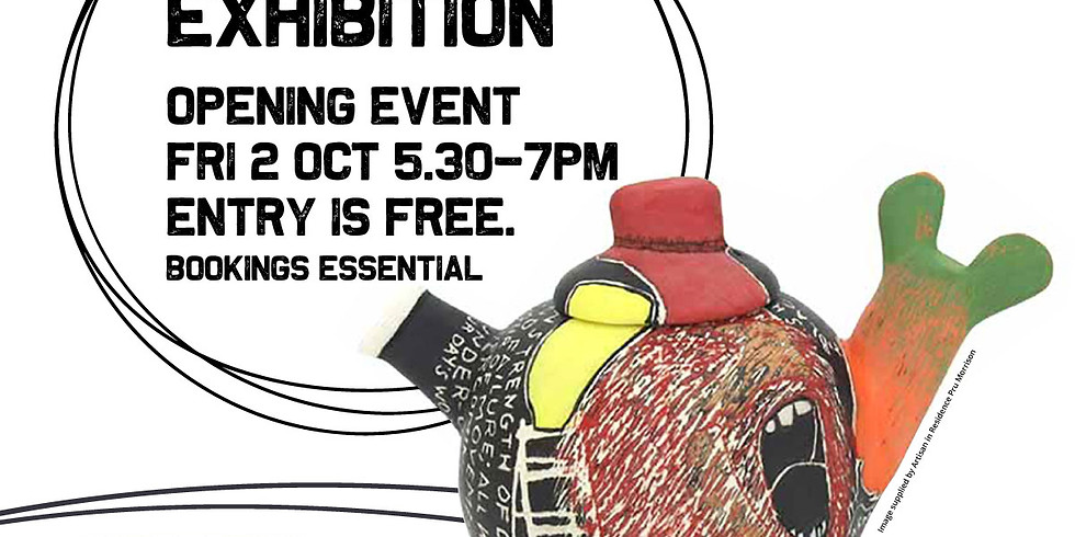 Teapot Exhibition Opening - CQ Shopfront Artisan in Residence Project Mackay