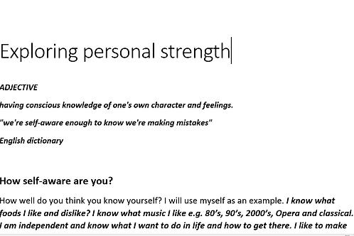 Exploring Personal Strength