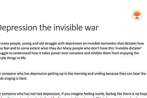 Depression the invisible war handout