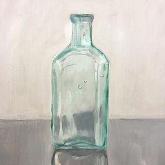 Bottle 3. _Oil on board. 31 x 25.5 cm_Wo
