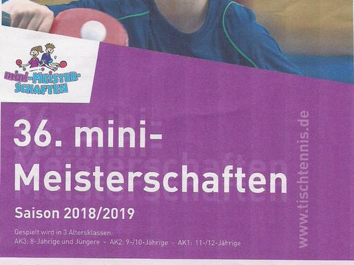 Tischtennis Mini-Meisterschaften 2019