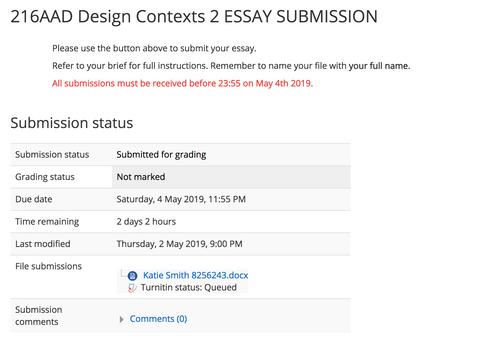 Sending off my Essay