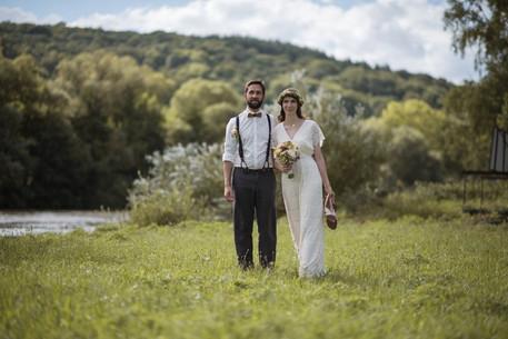 Natürliches Brautstyling