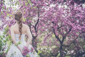 Brautstyling Frisur mit Zopf
