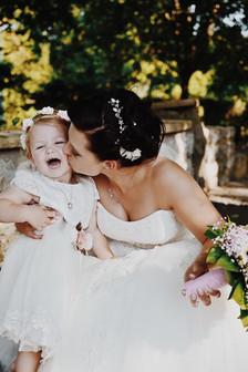 Brautstyling für Mutter und Kind