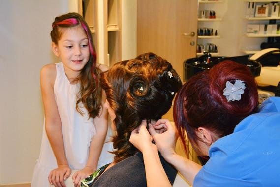 Brautstyling Frisur