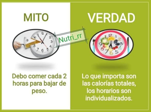 Comer cada 2 o 3 horas para adelgazar