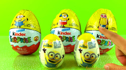 Opening Kinder Egg Surprises | Unwrapping Large Minions Kinder Eggs | Minions Plastic Egg  Surprises