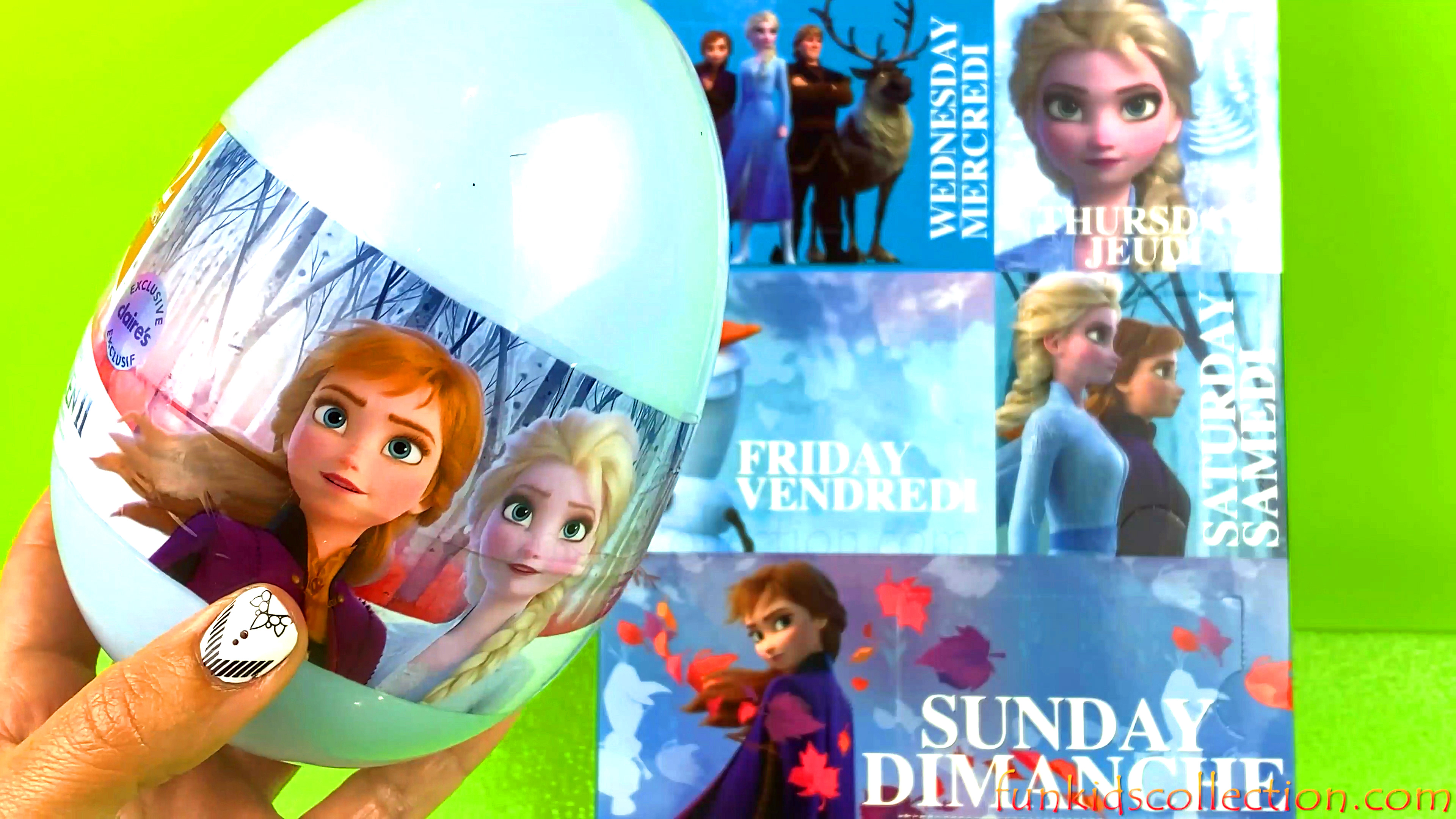 12 Disney Frozen 2 Claire Hair Accessories in a Frozen 2 Egg Surprise | Style Frozen 2 Advent Calend