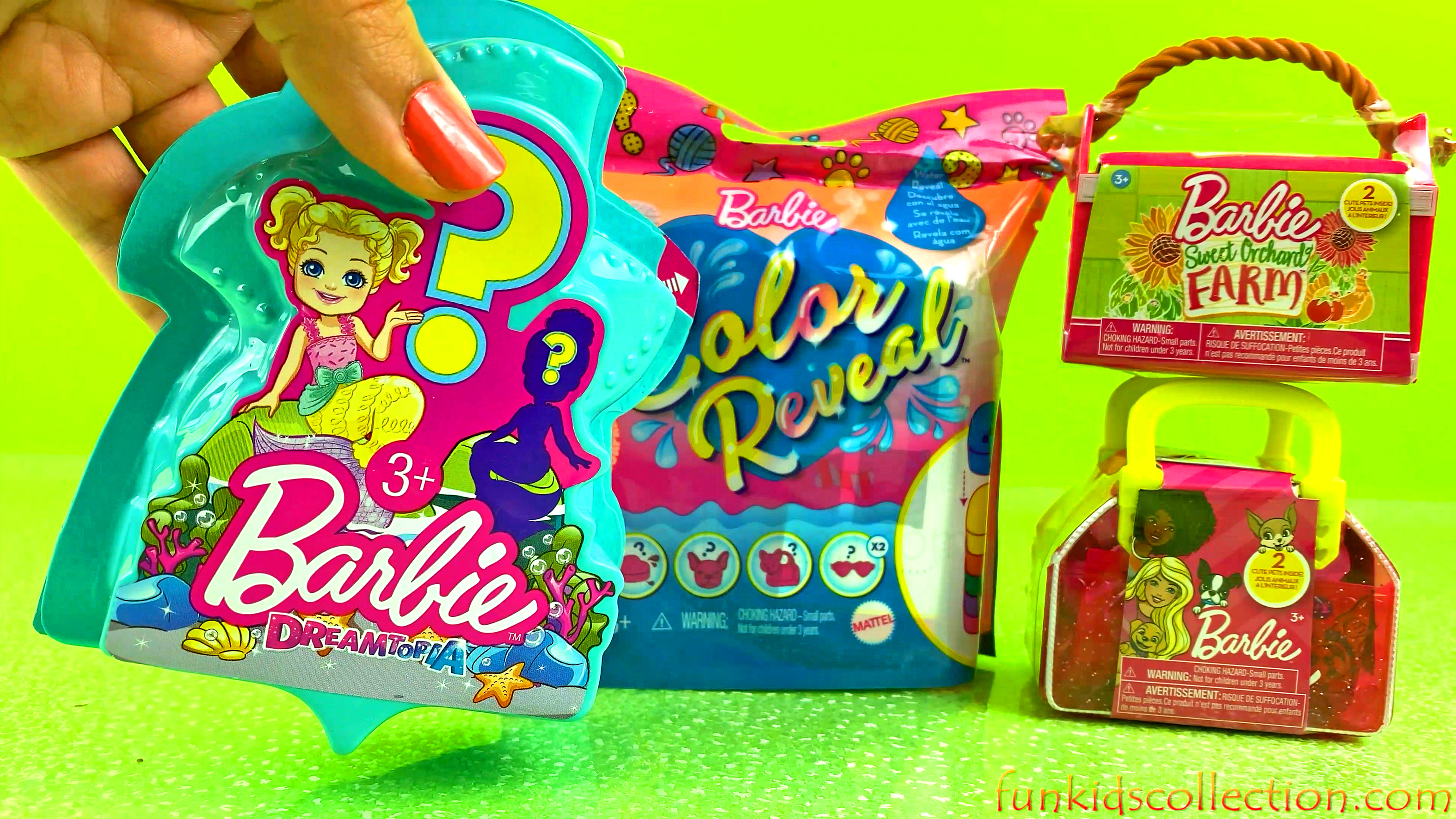 Barbie Toy Surprises | Barbie Color Reveal Blind Bag 5 Surprises | Barbie Dreamtopia & Barbie Pets