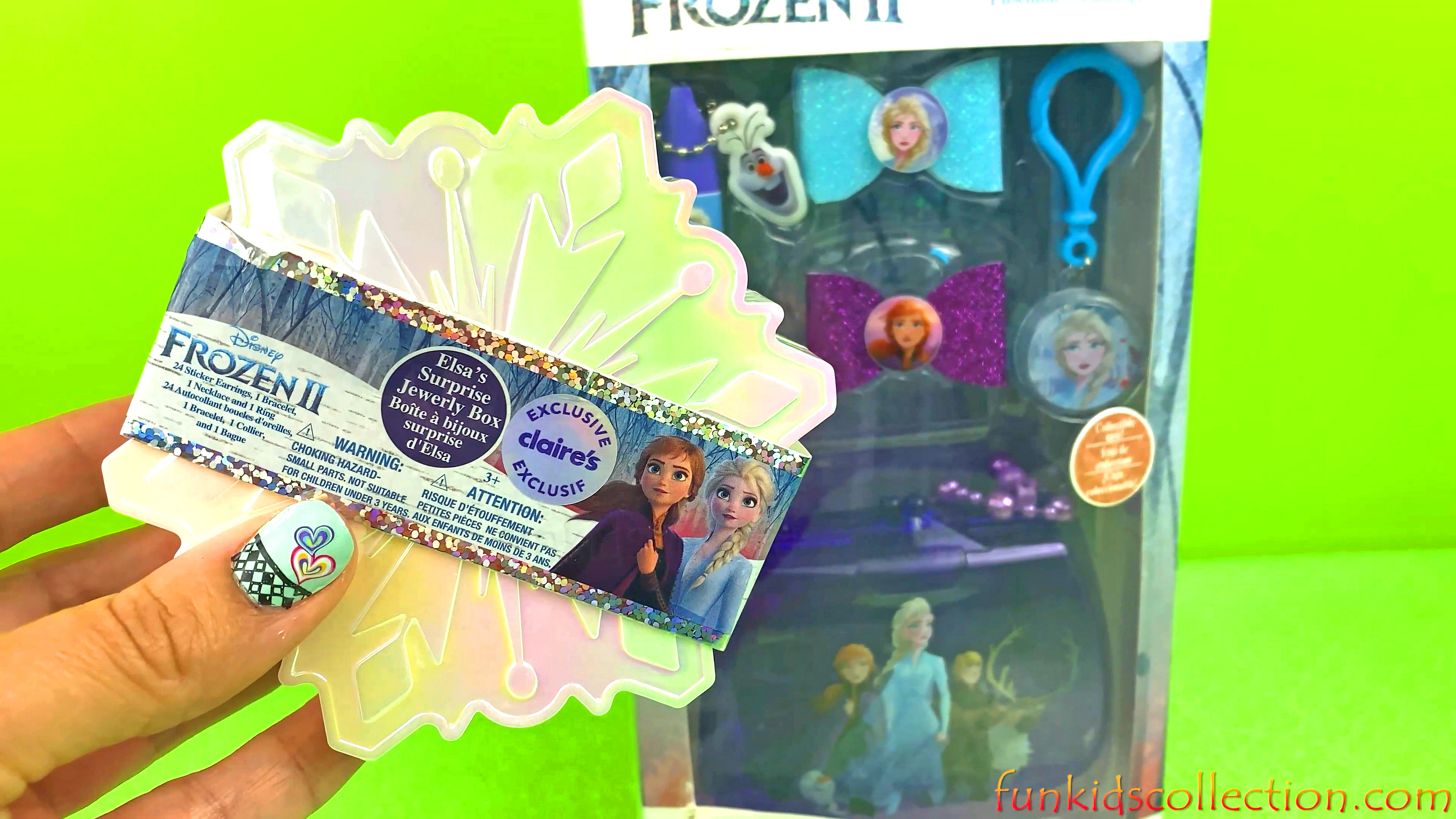 Unboxing Frozen 2 Claire Cosmetic Set | Opening Disney Frozen 2 Elsa Surprise Jewelry Box