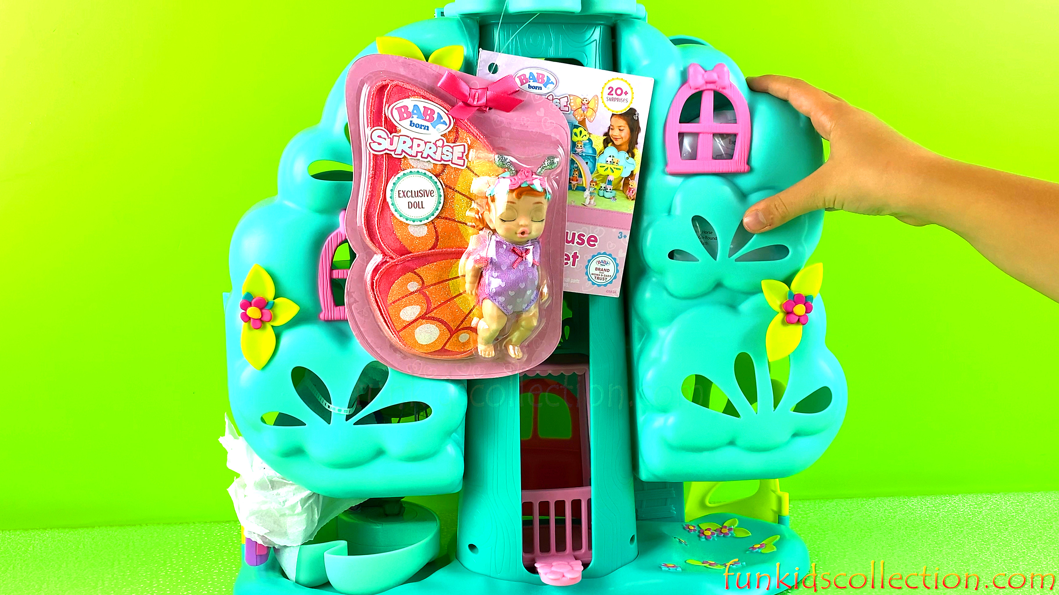 Baby Born Surprises Treehouse Playset Opening | Baby Dolls Pets and Treehouse Playset Unboxing