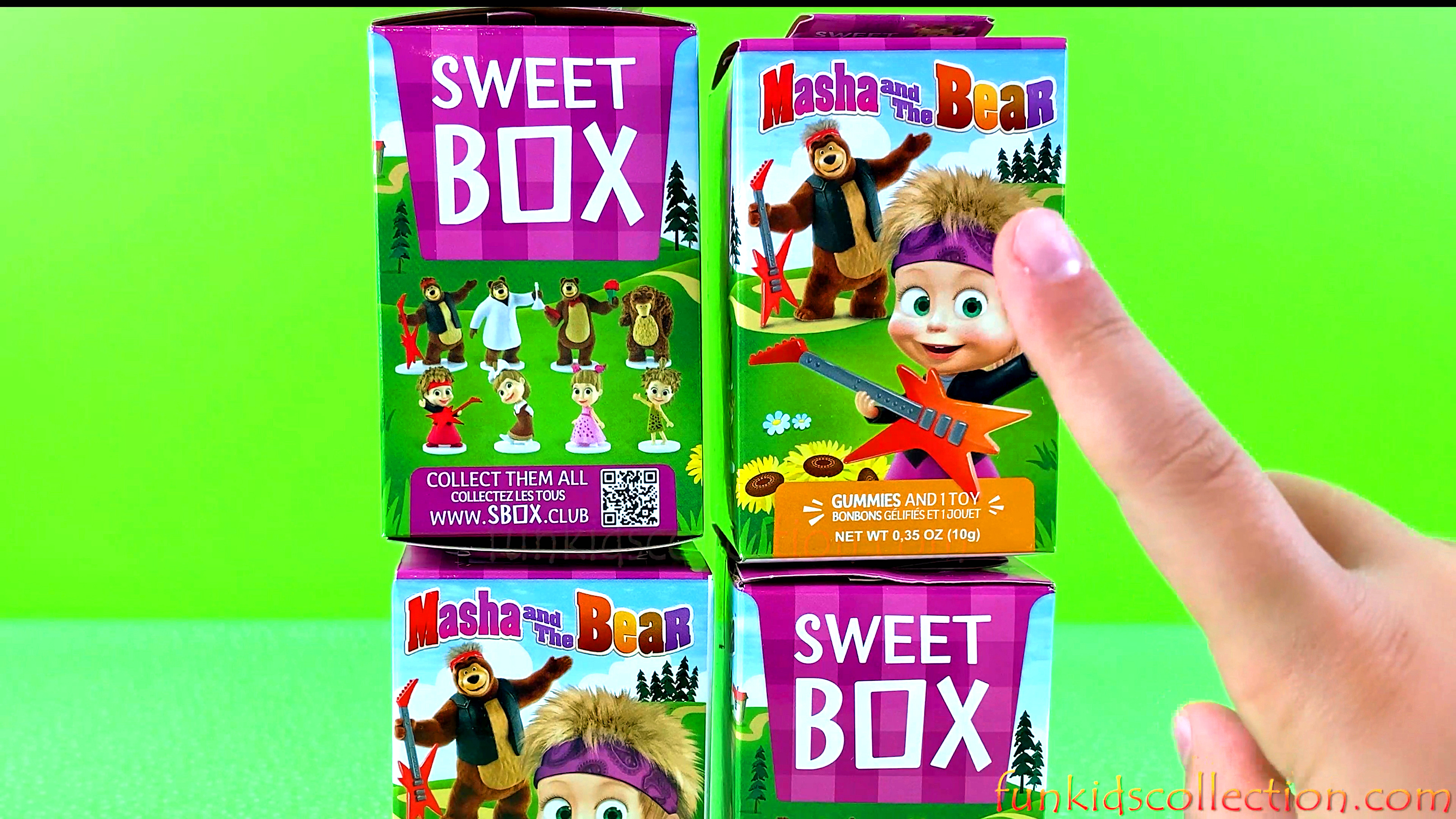 Sweet Box Masha and the Bear. Unboxing Sweet Box with Gummies and 1 Toy Surprise | EBD Toys