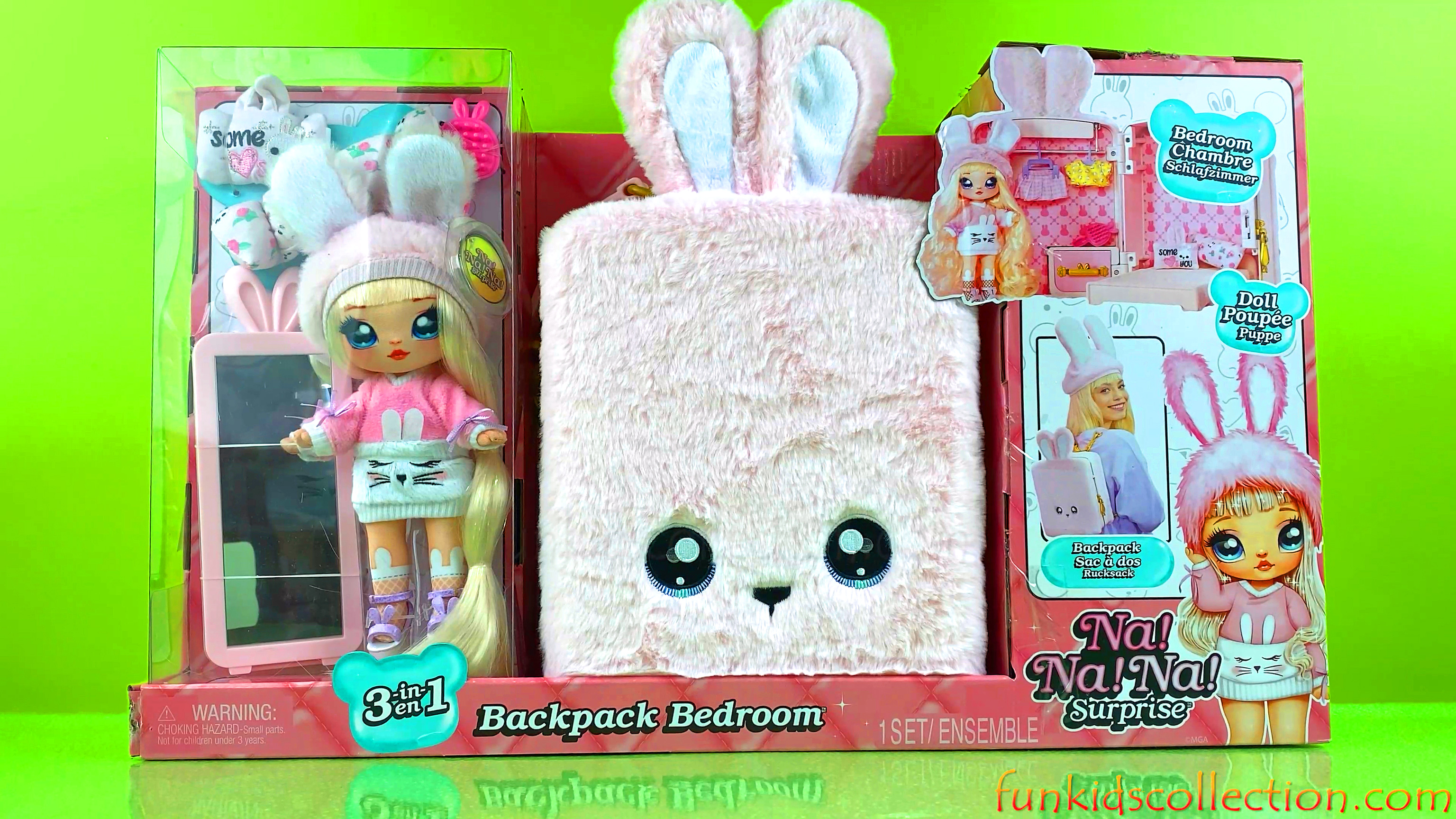 Na Na Na Surprise Doll Pink | Na Na Na Surprise Doll Backpack Bedroom Pink | EBD Toys