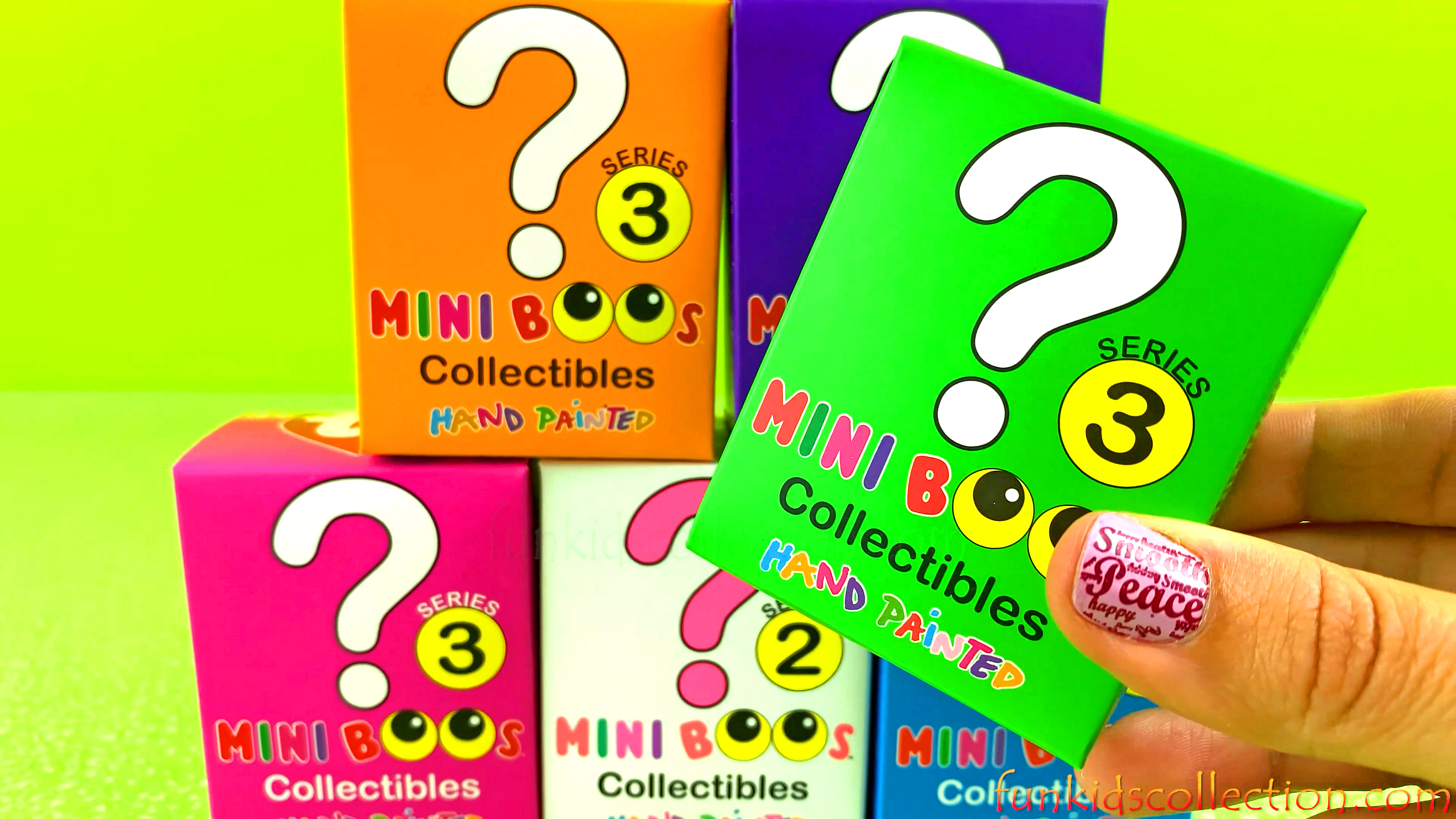 Mini Boos Blind Box | Unboxing Mini Boos Collectibles Hand Painted Series 3