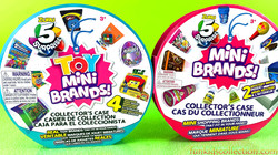 Toy Mini Brands Collector Case Surprise & Zuru Shopping Mini Brands Collector Case Mystery Minis