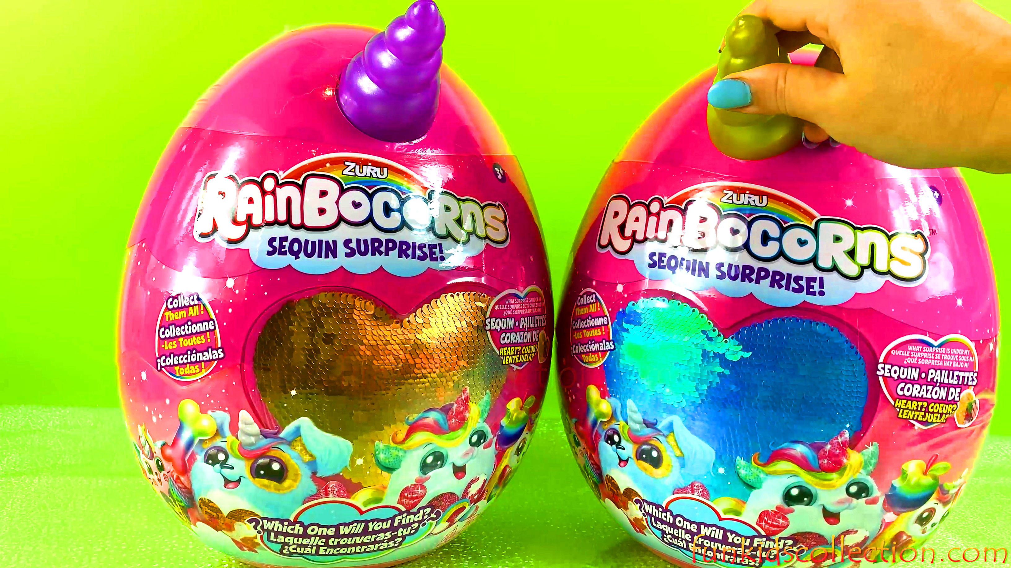 Unboxing Zuru Rainbocorns Sequin Surprise Rainbocorns Sequin Surprise Plush Surprise Eggs Toy