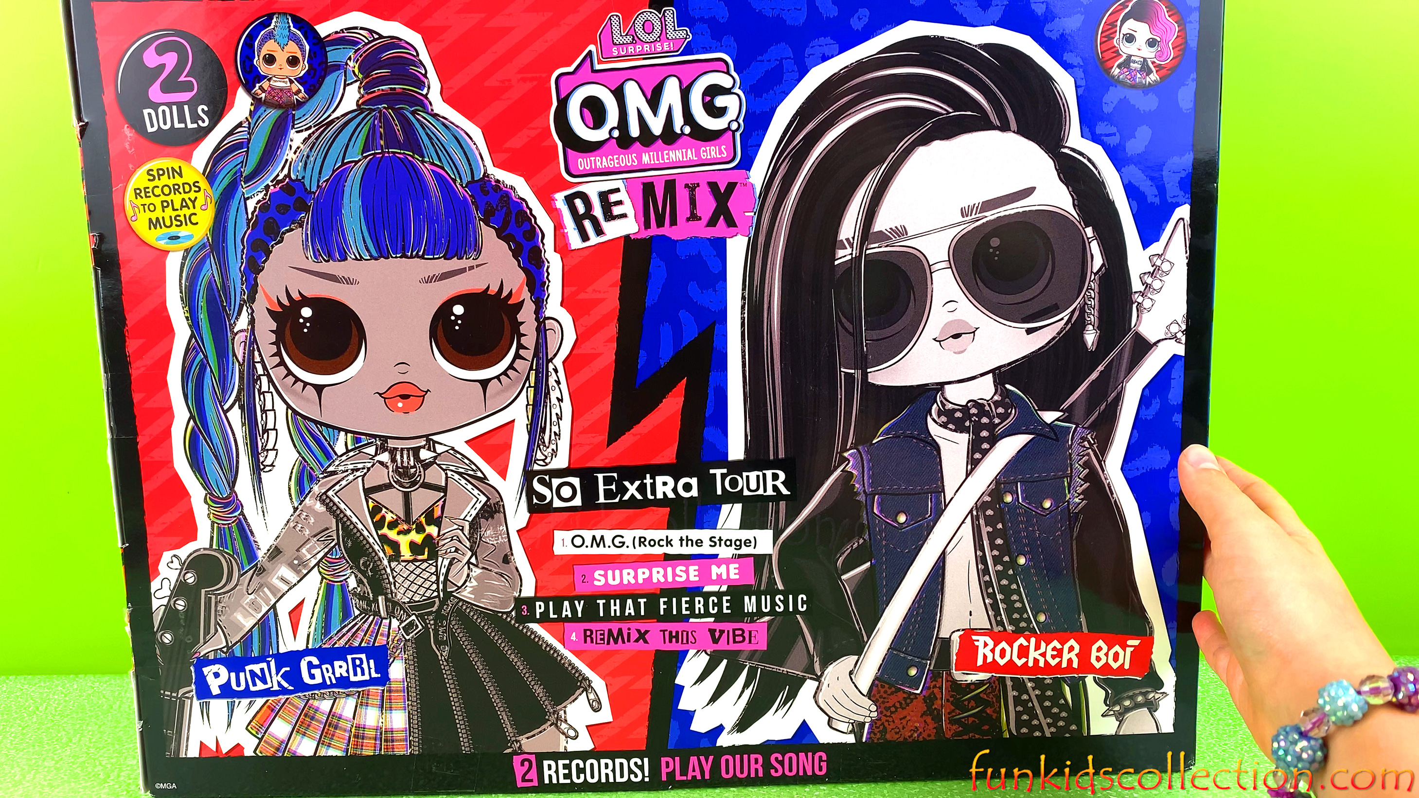 LOL OMG First Boy LOL Surprise OMG Remix | Unboxing Rocker Boi and Punk Grrrl - 2 Lol Dolls Pack