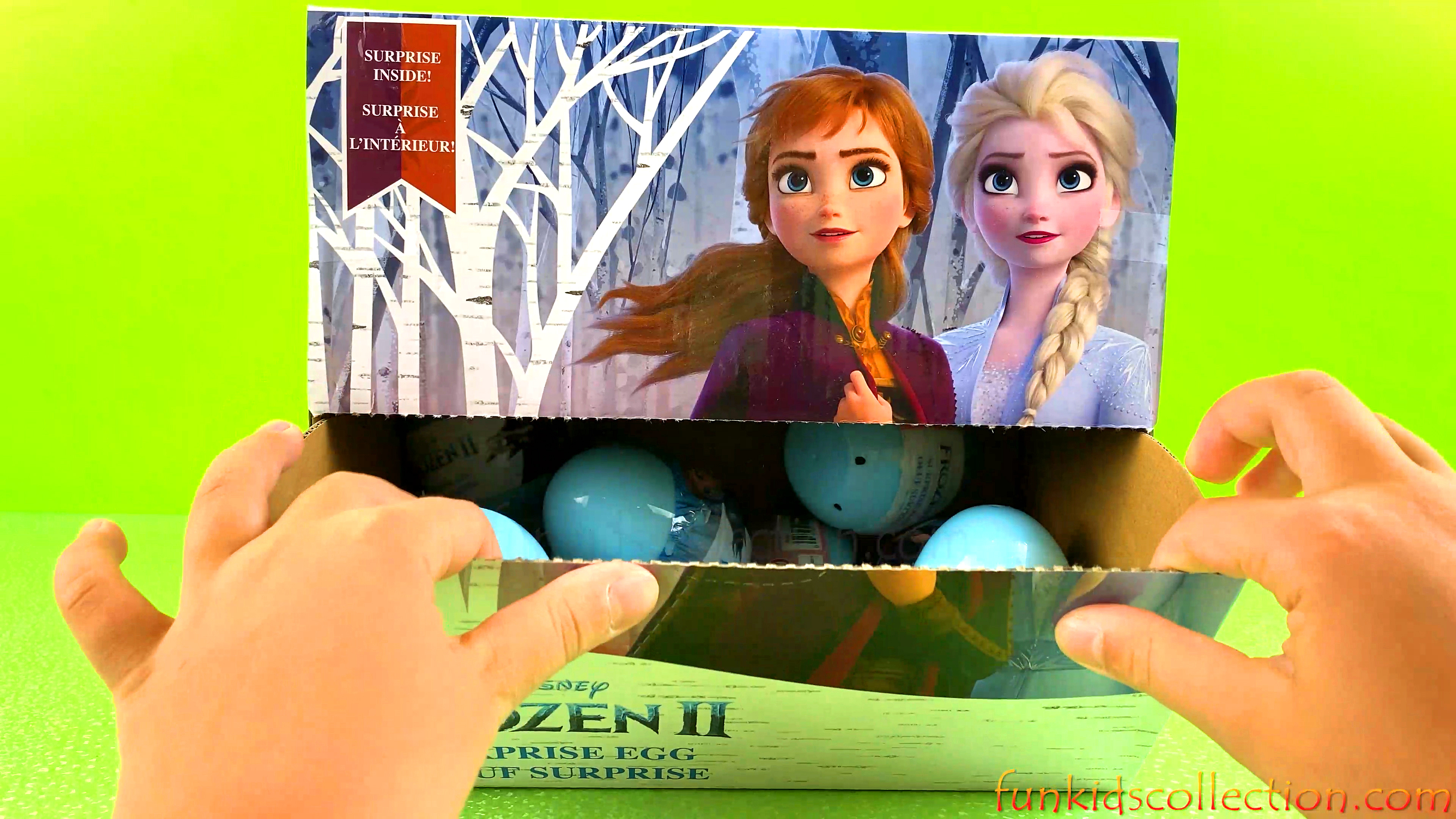 Full Box Frozen 2 Egg Surprises | Opening Disney Frozen 2 Plastic Surprise Eggs - EBD Toys