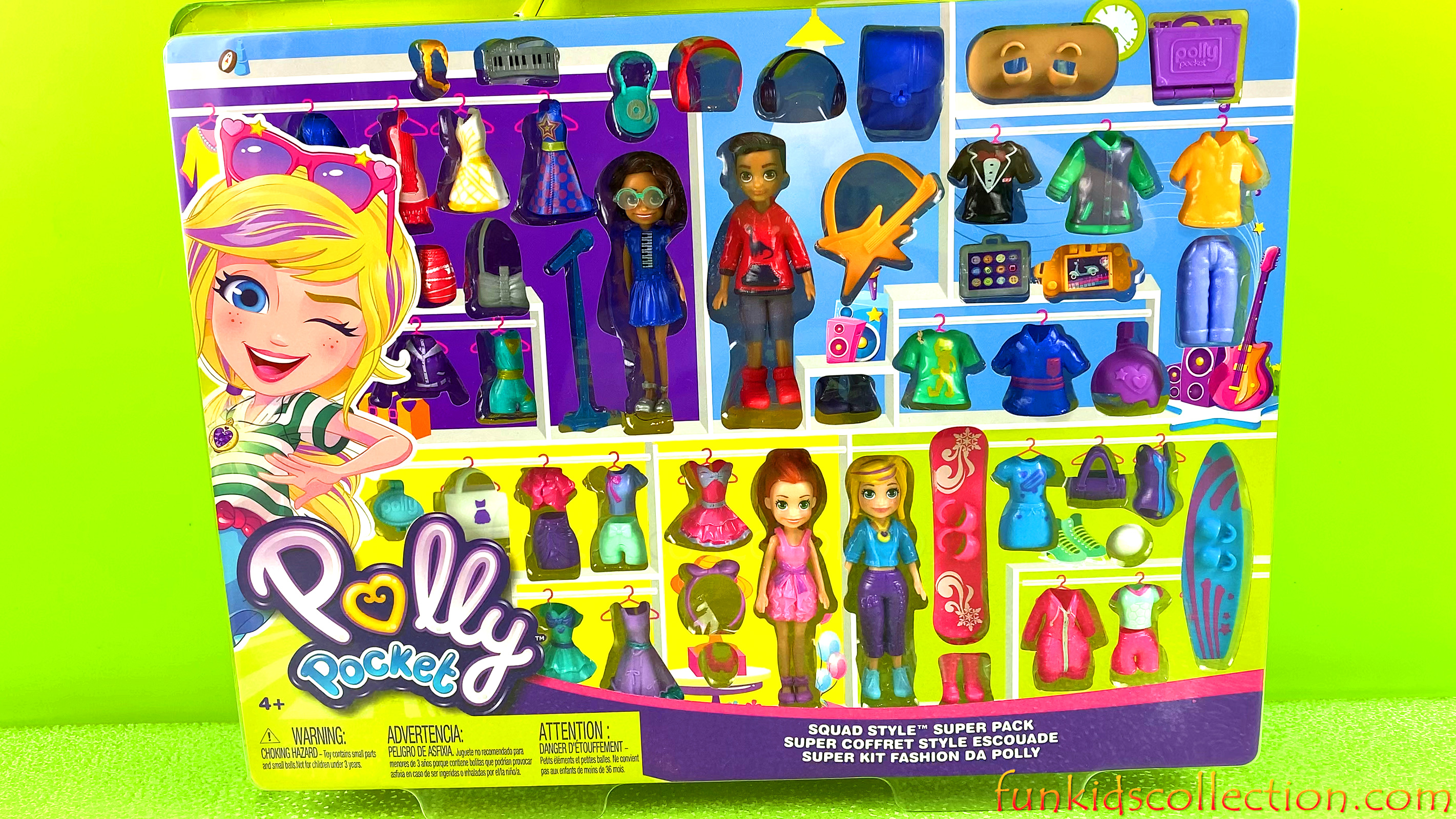 Polly Pocket Super Kit Fashion | Polly Pocket Squad Style Super Pack | EBD Toys