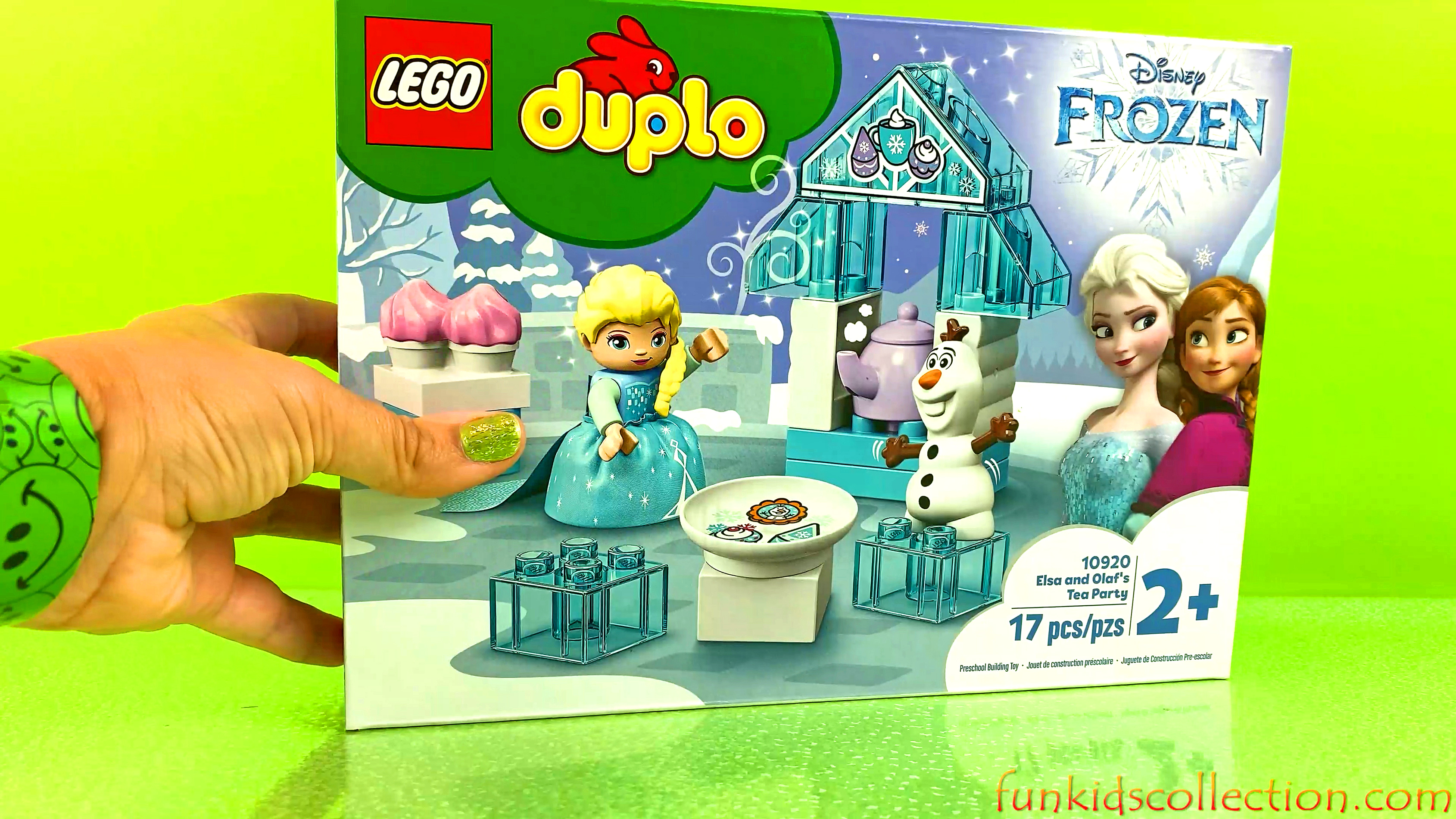 Disney Frozen Duplo Lego | Creating Frozen Elsa and Olaf 's Tea Party Duplo Lego 17 pcs