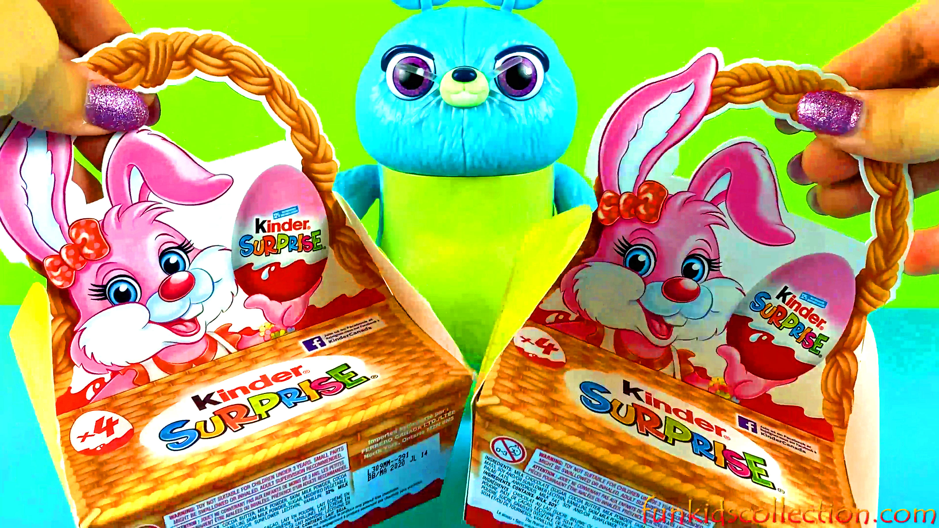 Kinder Easter Bunny Basket with Kinder Eggs Surprises | Kinder Easter Eggs Basket New Surprise Toys