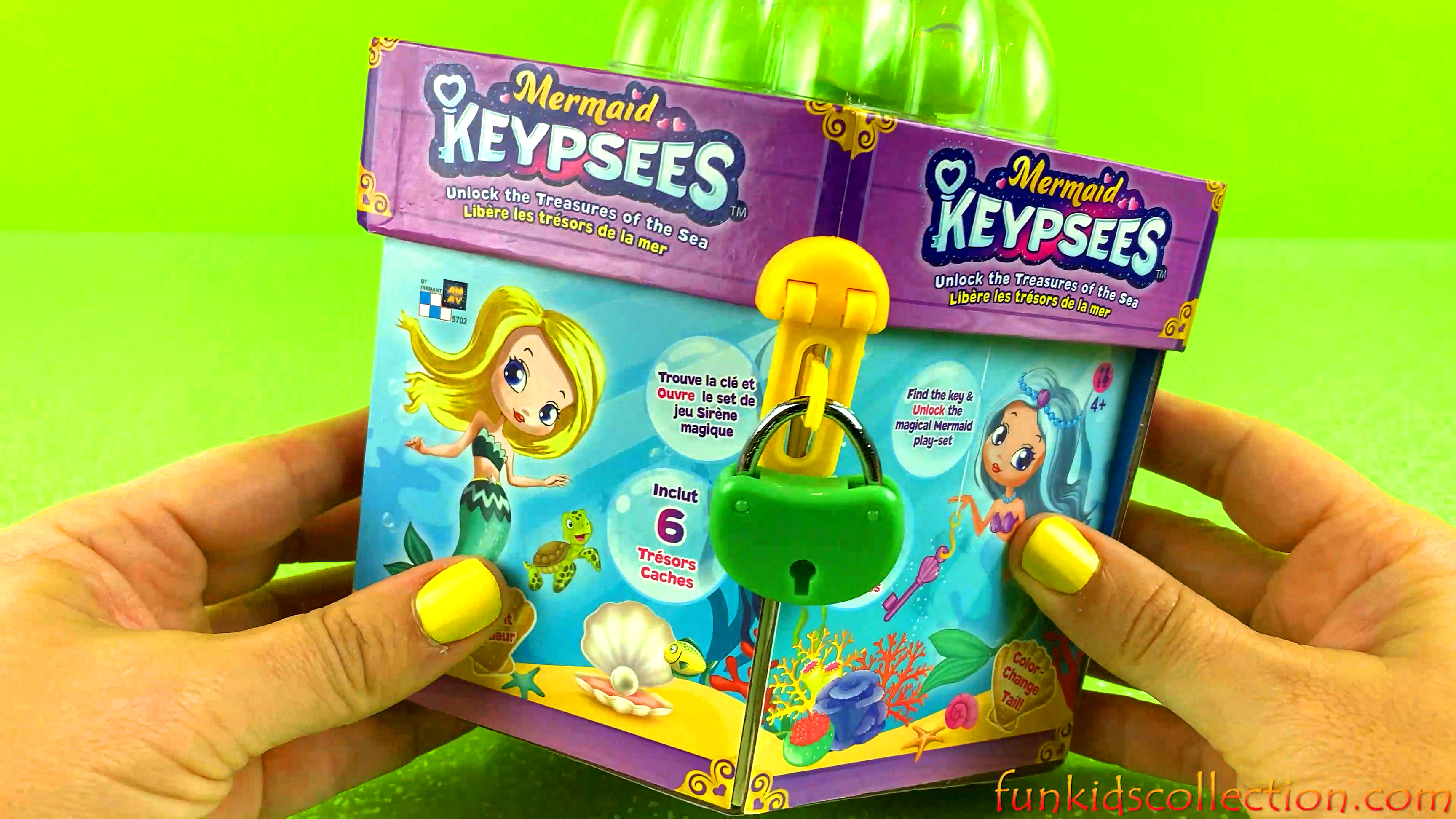 Magical Mermaid Keypsees Playset | Find the Key to Unlock the Treasures of the Sea | EBD Toys