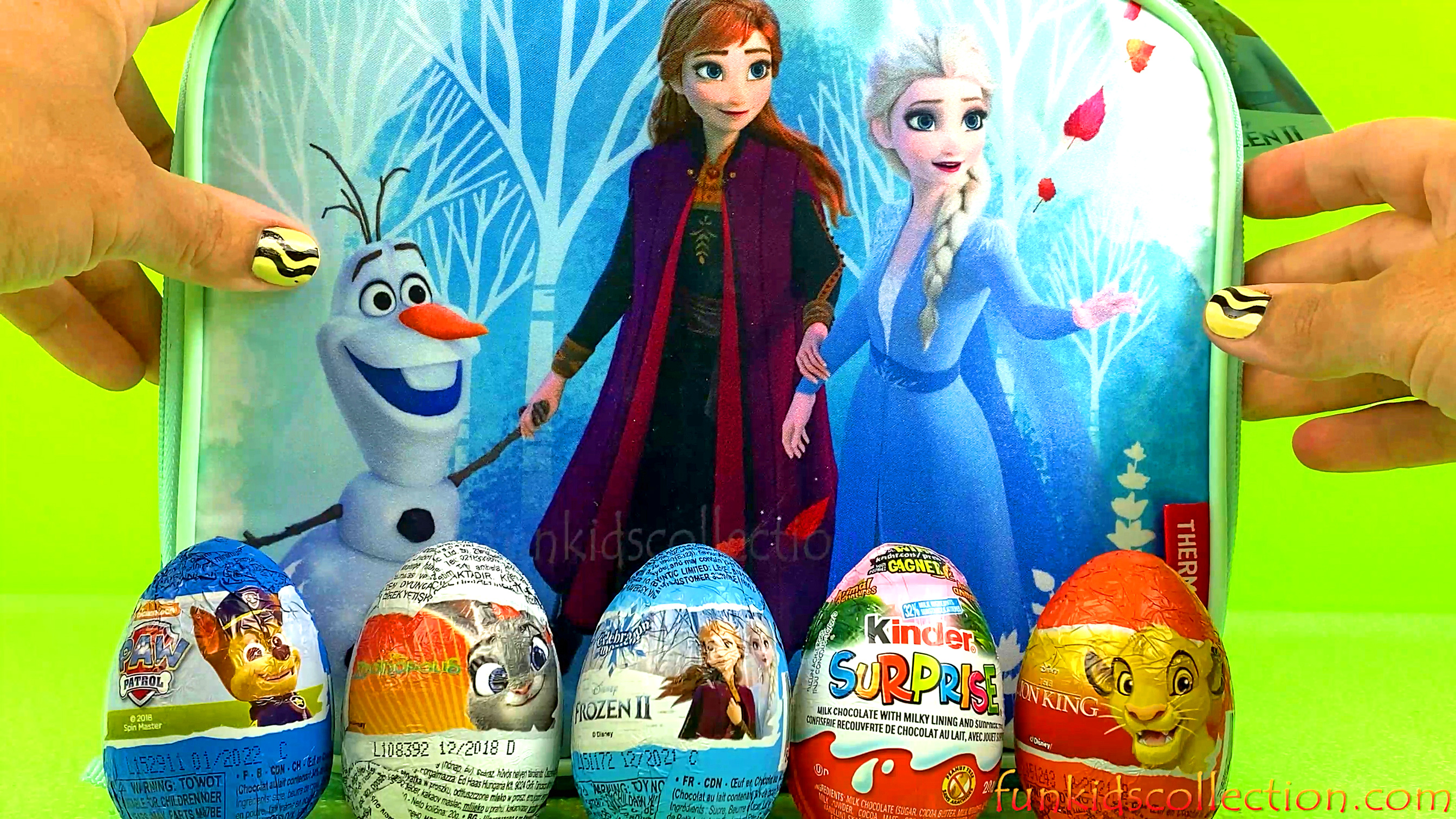 Zaini Egg Surprises & Kinder Egg Surprises Opening | Frozen 2 Lunch Bag with Chocolate Egg Surprises