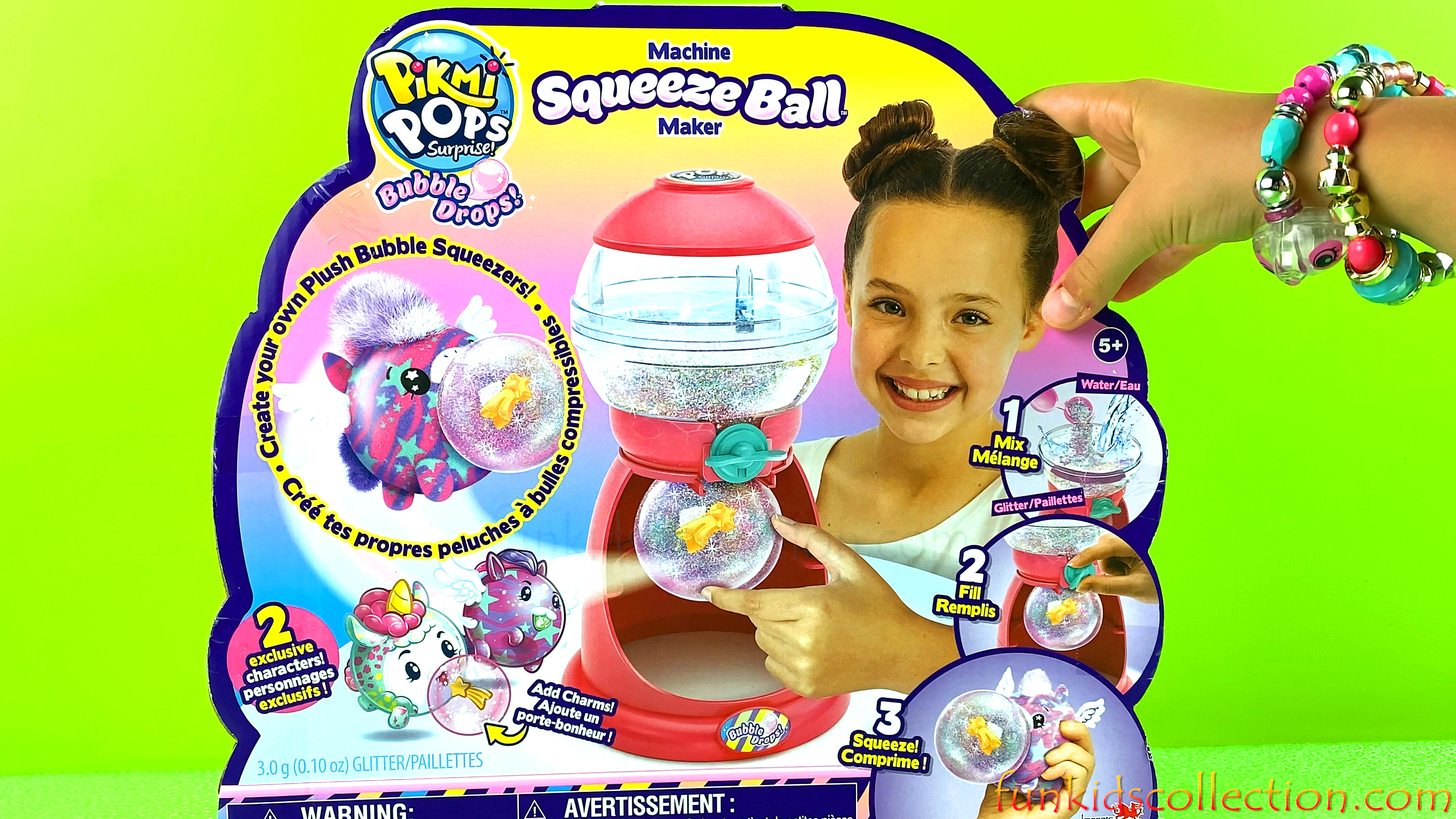 Pikmi Pops Surprise Bubble Drops | Pikmi Pops Surprise Machine Squeeze Ball Maker | EBD Toys