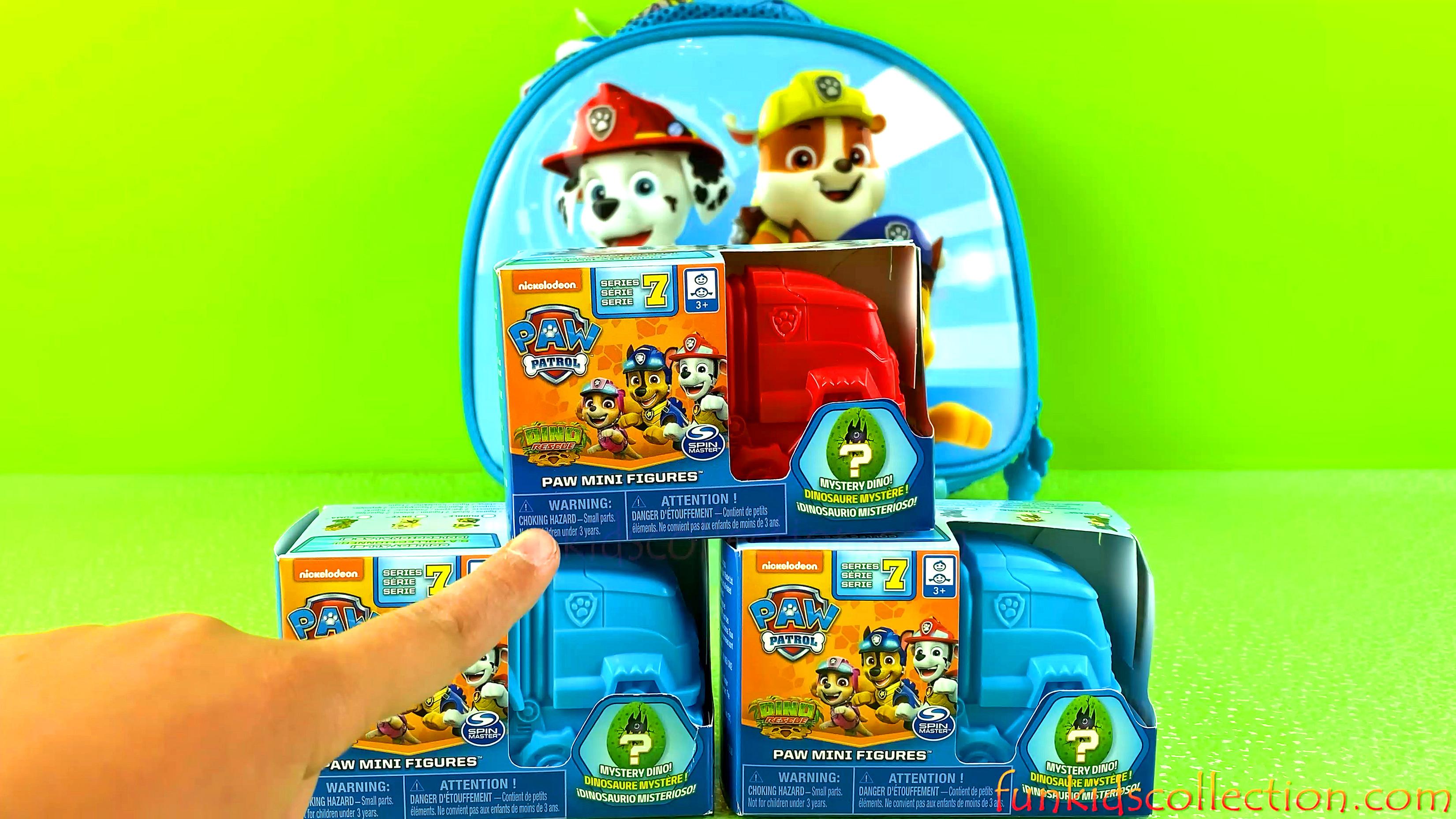 Paw Patrol Mini Figures Series 7 | Paw Patrol Dino Rescue Mystery Dino Blind Box | EBD Toys