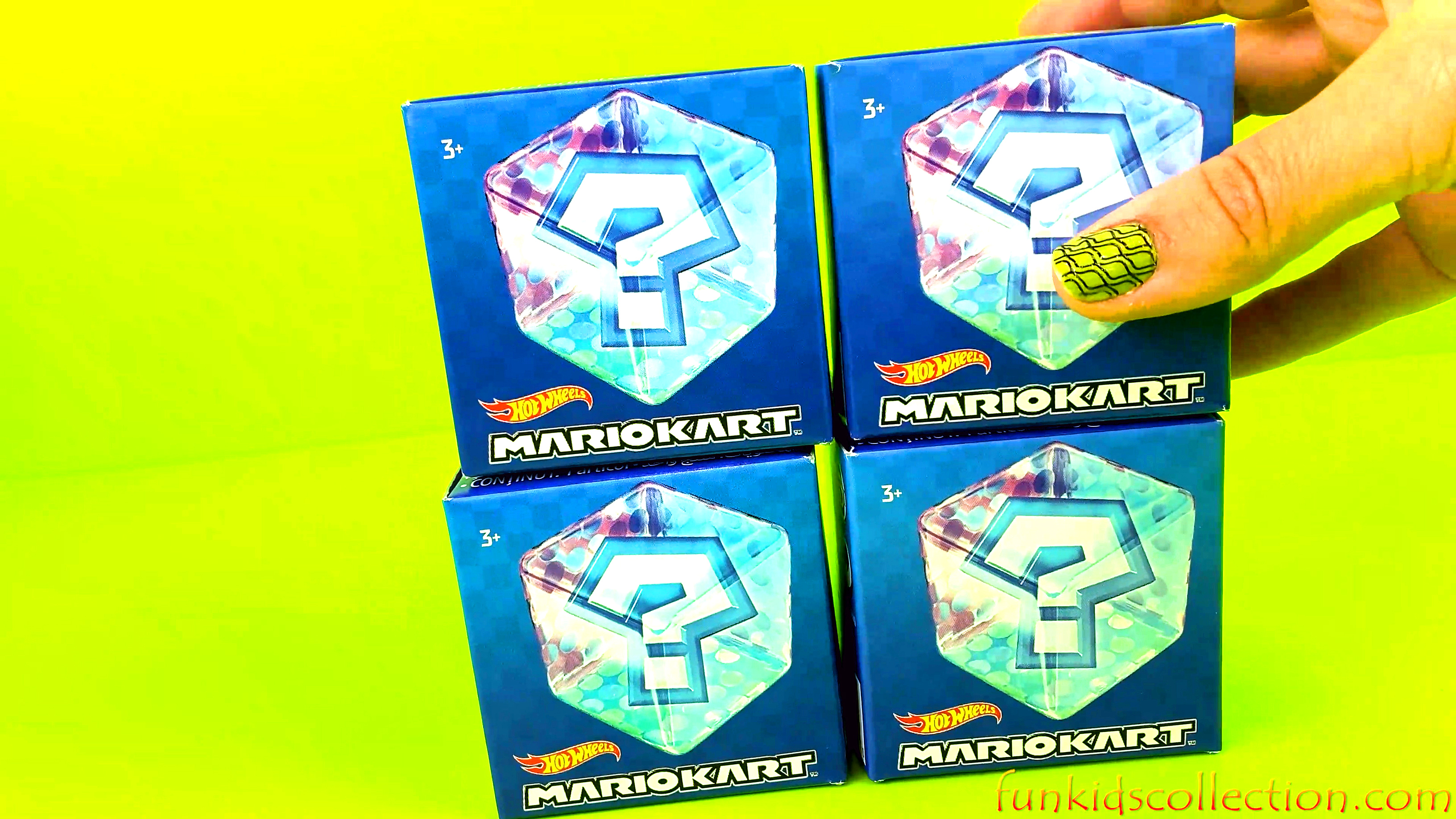 Helloo Hotwheels MarioKart | Unboxing Hot Wheels Mario Kart Figures in 4 Boxes