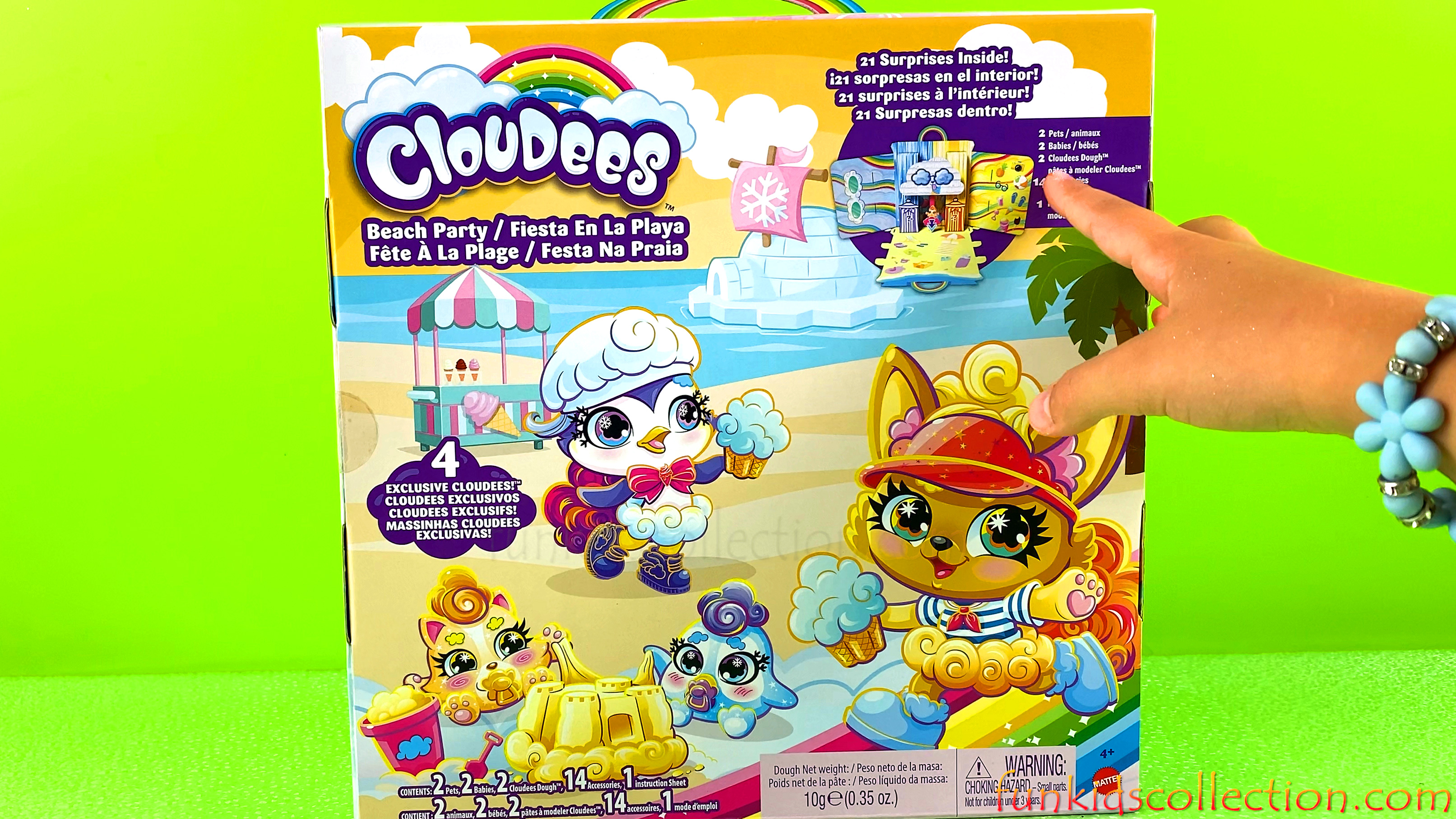 Cloudees Beach Party Playset | Opening Exclusive Cloudees with 21 Cloudees Surprises | EBD Toys