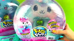Pikmi Pops Achurro the Fuzzy Llama Unboxing Pikmi Pops Surprise Doughmis Jumbo Donut Plush