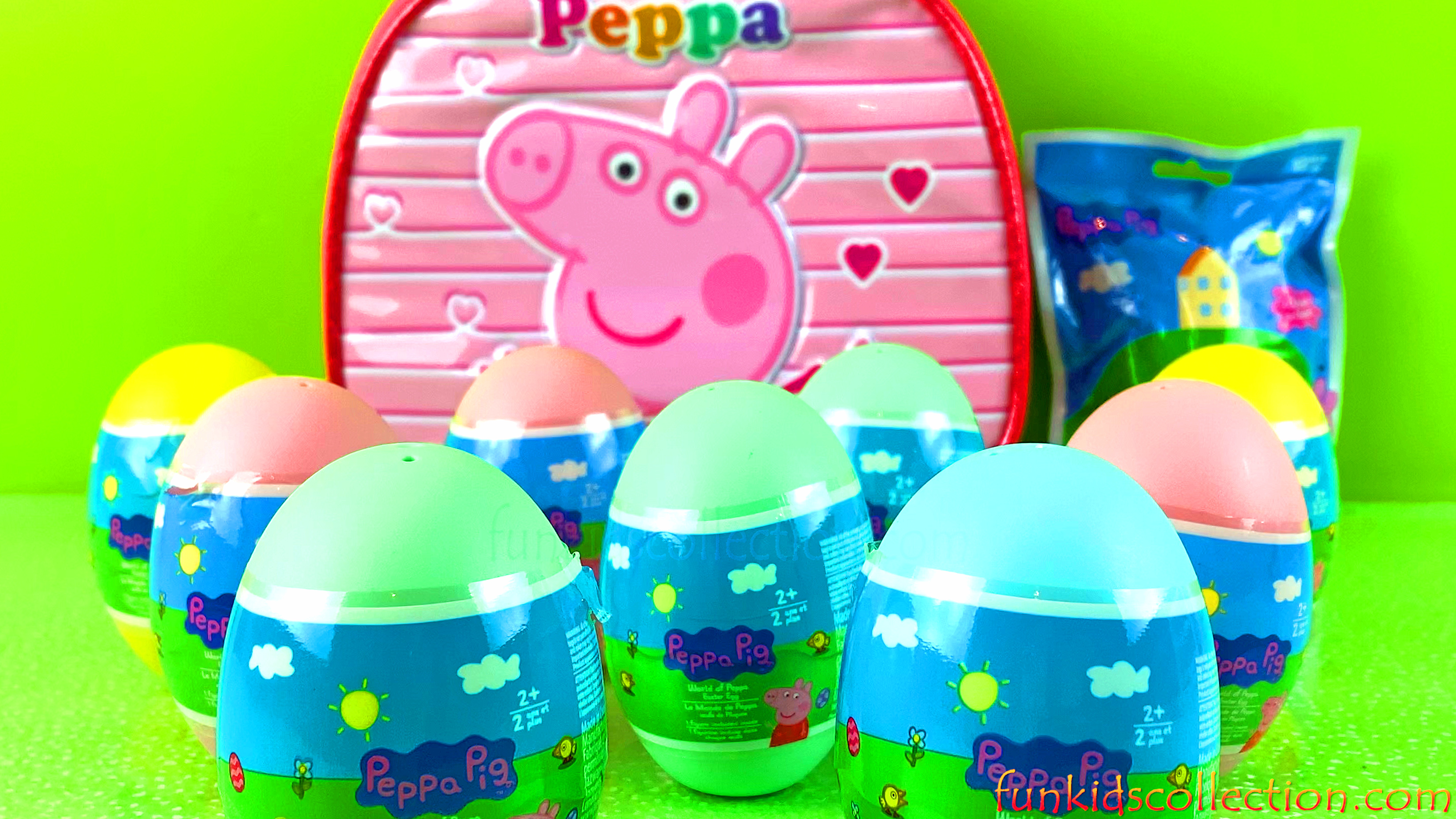 Peppa Pig Plastic Egg Surprises | World of Peppa Blind Bag | Peppa Pig Bag Clip Plush | EBD Toys