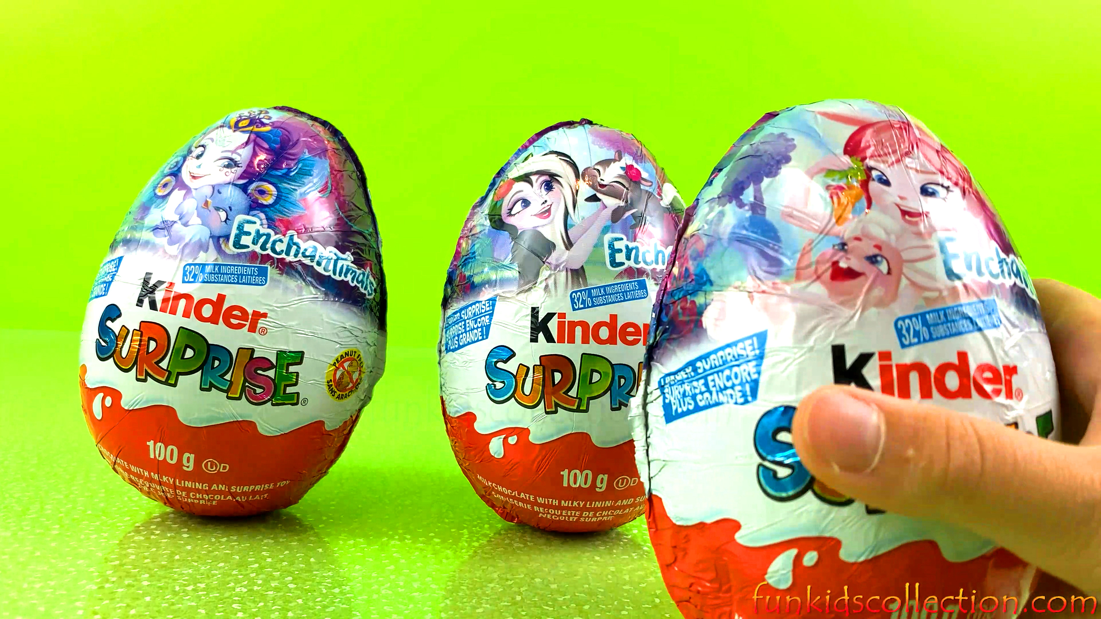 Opening Enchantimals Big Kinder Egg Surprises | Unwrapping Big Kinder Egg Surprises - EBD Toys