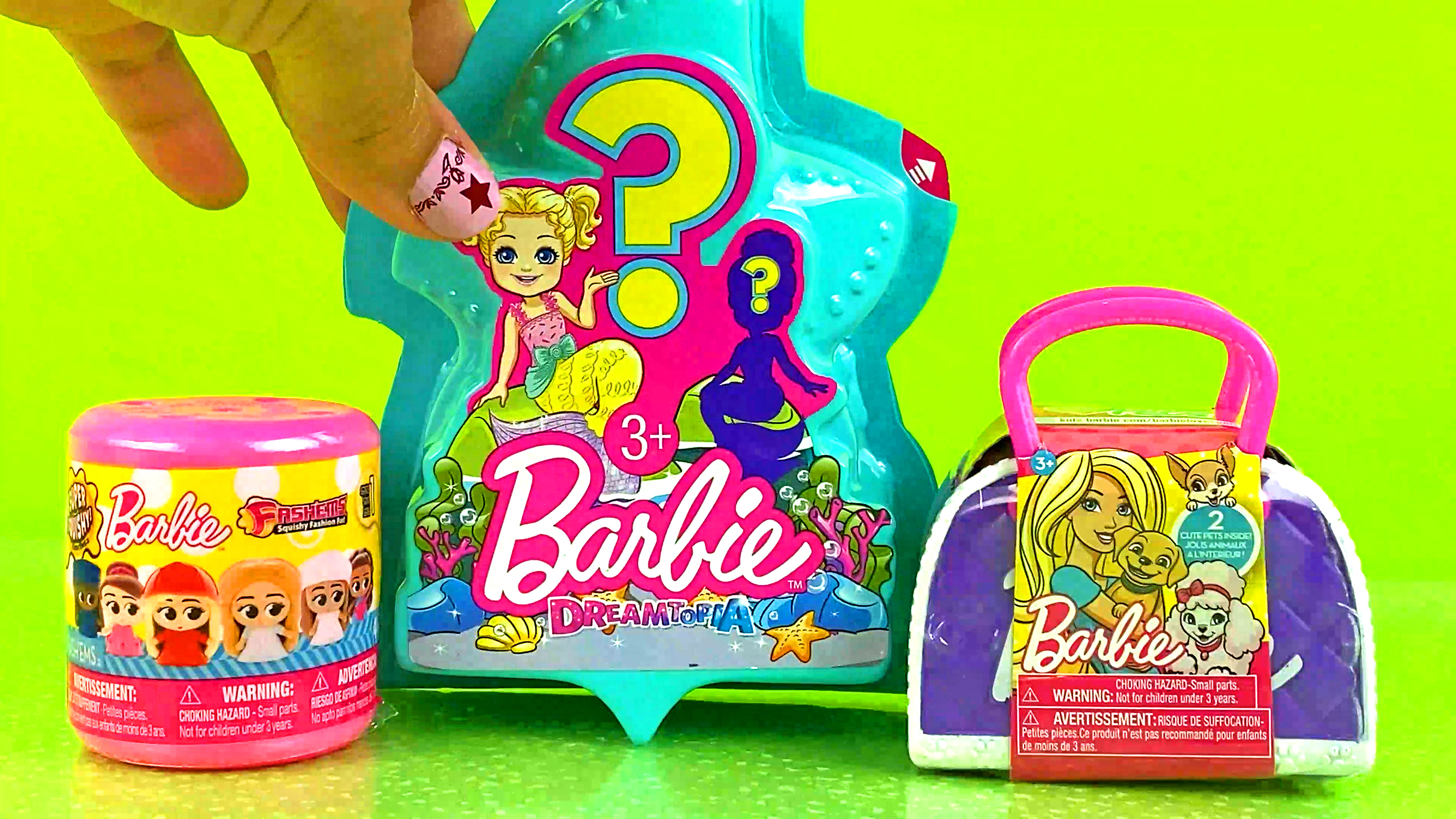 Opening Barbie Toy Surprises | Opening Barbie Fashems Unboxing Barbie Dreamtopia Barbie Pets