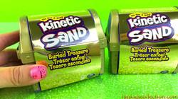 Kinetic Sand Buried Treasure | Kinetic Sand Buried Treasure Search for Coins and Tools Mini Treasure