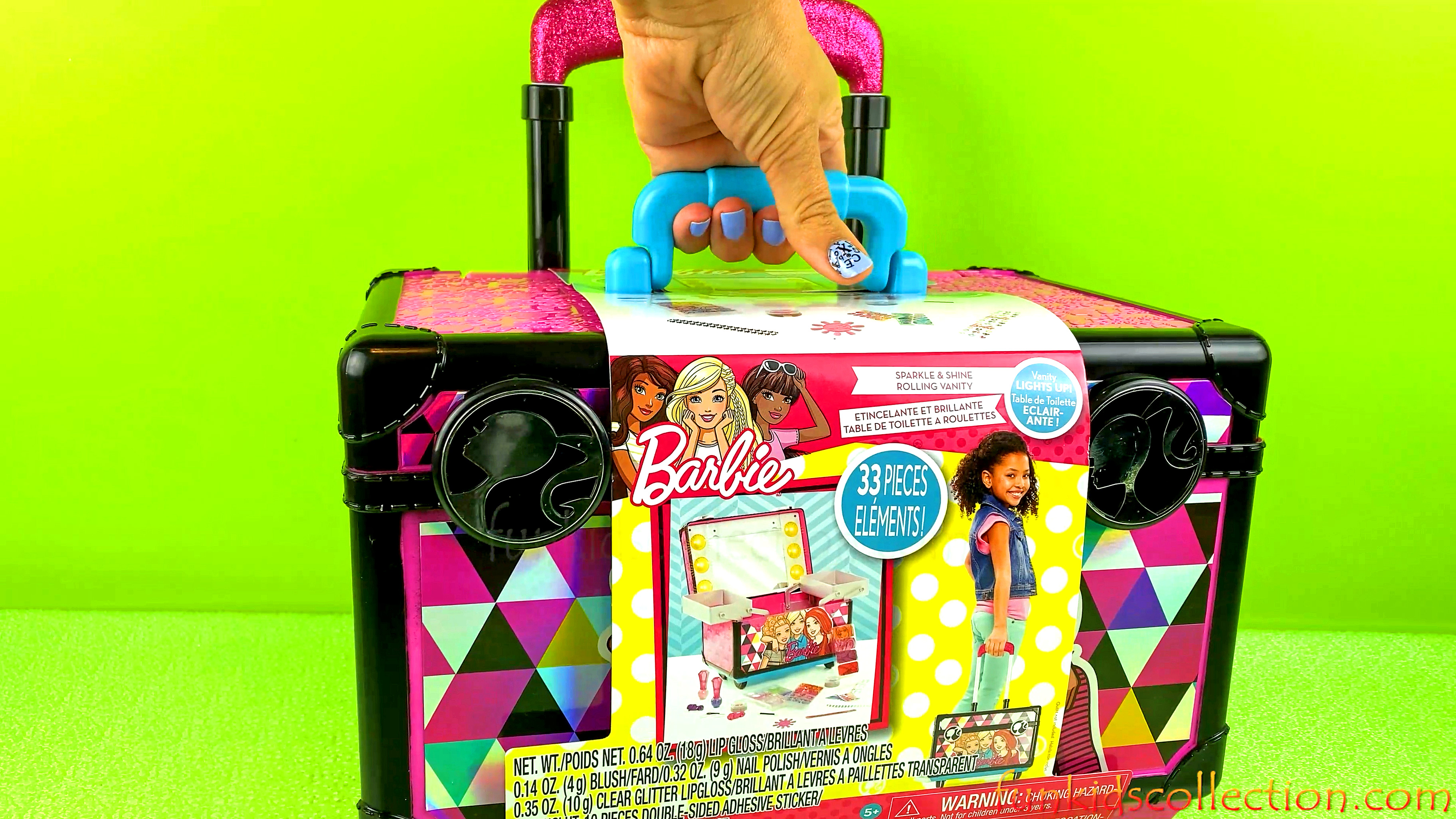 Barbie Cosmetics | Barbie Sparkle and Shine Rolling Vanity Playset | Barbie Light UP Vanity!