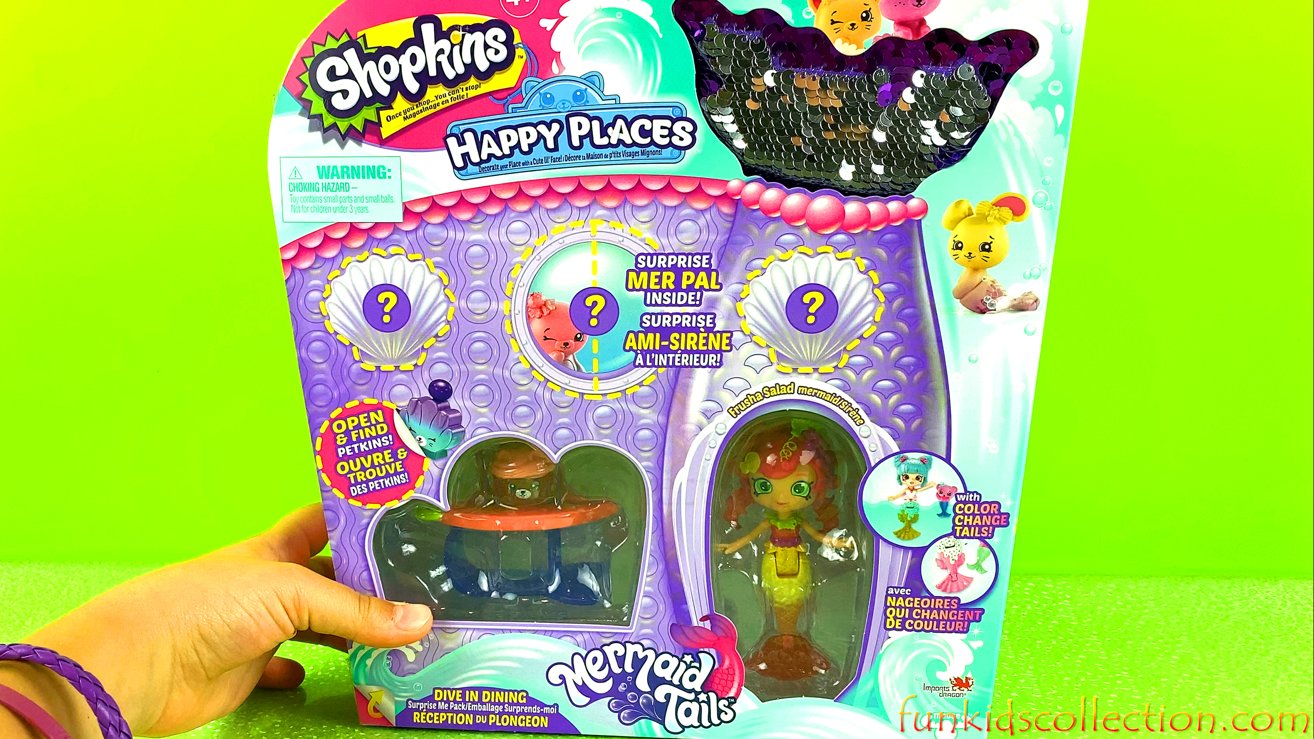 Shopkins Happy Places | Unboxing Shopkins Mermaid Tails Color Changing Mermaid Shoppies